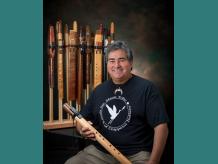 dg Hatch, Chippewa flute maker & artist.