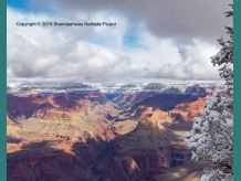 Il a neigé au Grand Canyon by Shendaehwas Nathalie Picard
