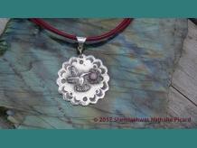 Strong little heart of joy & vibrating beauty, artisan fine silver pendant  by Shendaehwas