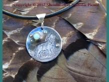 Soulmate, fine silver pendant by Shendaehwas
